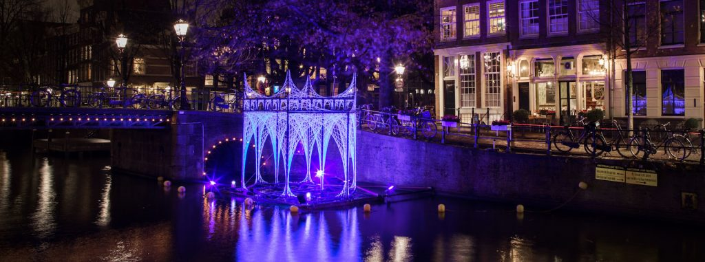 Bitcoin Address Illuminates Amsterdam's Lights Festival