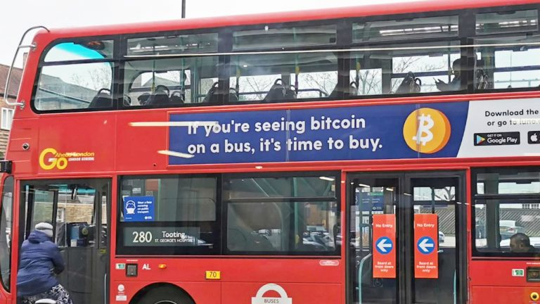 UK Bans 'Time to Buy' Bitcoin Ads on Buses and Underground for Being Misleading